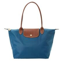 Longchamp Le Pliage Med SML Nylon Shoulder Tote 2605 Peacock Teal Duck Blue