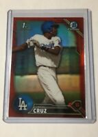2016 Bowman Chrome RED Refractor Oneal Cruz Rookie 1/5