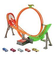 Hot Wheels Power Shift Raceway Track Set Loop & Jump with 5 Cars + Batteries