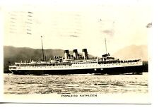 Princess Kathleen Canadian Passenger Ship-1947 RPPC-Vintage Real Photo Postcard