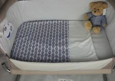 Light Weight Quilt Coverlet With Soft Fleece Backed Lining Blue Circles & Stripe