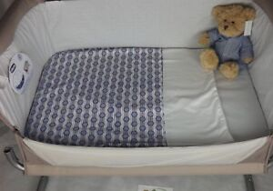 Moses Basket Light Weight Quilt Coverlet Fleece Backed Lining B Circles Stripe