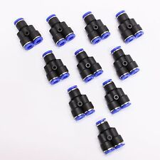10pc Push In To Connect One Touch Fittings Y Union 1/4 MettleAir MTY1/4-1/4