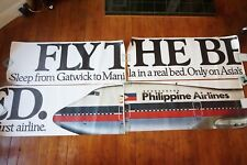 More details for 1970s philippine airlines bus london transport advertising huge exterior poster