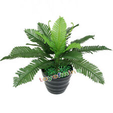 Lifelike Big Artificial Silk Boston Fern Bath Potted Plant Tree Home Decoration