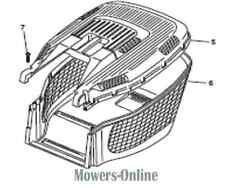 Genuine Mountfield Grassbox Top Part No 322486122/0 Also Homelite & MacAllister