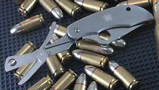 Couteau Spyderco ClipiTool Acier 8Cr13MoV Manche Acier Ciseaux SC169P
