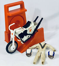 Vintage Evel Knievel Stunt Cycle With Out Fit And 2 Helmets