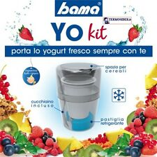 Portayogurt Bama Yo Kit  IN Plastica, Multicolore, 9x9x14 cm