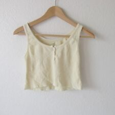 Brandy Melville John Galt Soft Thermal Cotton Yellow Cropped Tank Top New