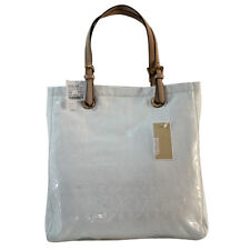 Michael Kors Bag 38T1CTT3Z MK Jet Set Mirror Metallic Tote White Agsbeagle