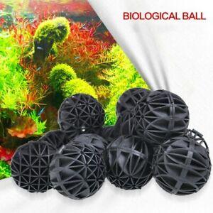 50/100pcs Aquarium Pond Reef Bio Black D16mm Balls Fish Tank Air Pump Caniste
