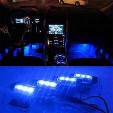 4LED Car Charge Interior Accessories Floor Blue Decorative Atmosphere Lamp Light