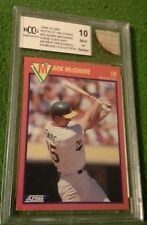 Mark mcgwire 1989 score hottest 100 stars bccg graded mint 10 and game used bat