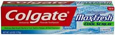Discontinued Colgate Toothpaste MaxFresh Cool Scrub W/ Microscrubbers 6 Ounce