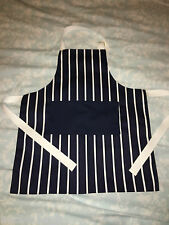 Personalised Childrens Apron (Butchers Stripe Fabric) - Ideal Present