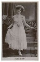 Antique printed postcard Miss Lud actress singer stage theatre