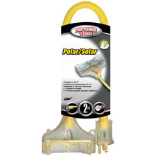Southwire 3482Sw8802 2' Polar/Solar Tri-Source Power Block Extension Cord (12/3