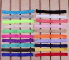 50PCS Handmade Solid Candy Nylon Headbands Artificial Elastic Band For Headbands