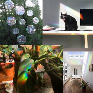 7pcs/set Rainbow Window Prism Film Static Cling Sticker Decal Home Kitchen