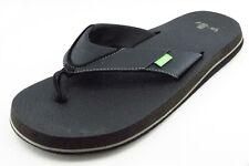 Sanuk Size 8 M Black Flip Flop Fabric Men Shoes