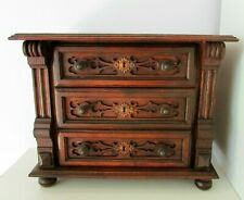 ANTIQUE PINE WOOD DOLL TOY HAND MADE CHEST OF DRAWERS COMMODE