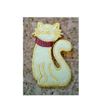 Cat - Kitten - Pet - Domestic - Yellow - Iron On Patch - Crafts