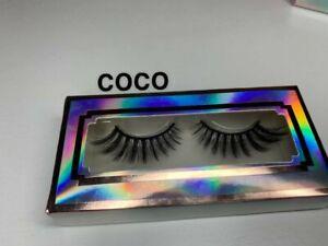 3D Natural False Eyelashes Long Thick  Fake Eye Lashes Makeup Mink
