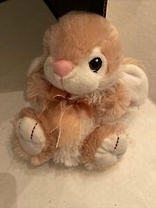 """Dan Dee Bunny Rabbit Plush Stuffed Animal Toy Beige Tan Brown White 8"""""""