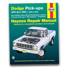 Haynes Repair Manual for 1975-1989 Dodge D100 - Shop Service Garage Book ii