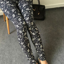 Woman's High Waist Navy & White Stretch Super Soft Comfortable Quality Leggings