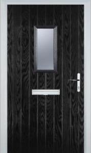 Black Square Composite Door NEW