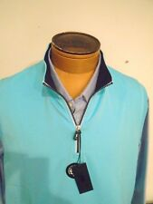 Fairway & Greene Caves Quarter Zip Sweater Vest NWT XL $95 Aqua Blue