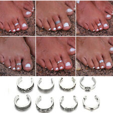 8pcs Women Lady Adjustable Metal Open Toe Ring Finger Ring Beach Foot Jewelry