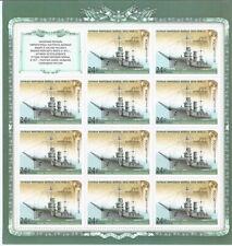 Dreadnought Battleship Imperatritsa Ekaterina Velikaya. 11 stamps in 1 sheet