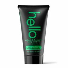 Hello Activated Charcoal + Hemp Seed Oil Fluoride Free Toothpaste, 28.3g 1oz