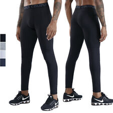 Men's Workout Running Cycling Base Layers Fitness Cool Dry Legging with Pocket