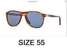 Occhiali Sole Persol PE 9649 96/56 Terra di Siena Unisex McQueen Original Slim