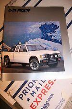 1988 Chevrolet S-10 pickup 21 pg. dealer brrochure