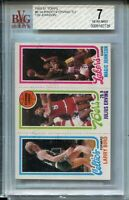 1980 Topps Larry Bird Magic Johnson Erving Rookie Card RC Graded BVG Nr Mint 7