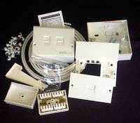 BT NTE5A, ADSL Filtered Faceplate BT78a Box, IDC Tool, 5m Cable & Clips - Bundle