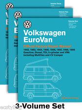 THREE VOLUME   VW Volkswagen Eurovan 92-99 Dealer Bentley Repair Manual VW VV99
