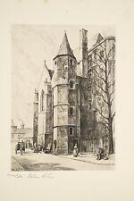 Gravure Léopold Robin LILLE Le Palais Rihour XX° Siècle Architecture