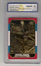 Michael Jordan 23k GOLD 1986 Fleer Rookie Card! Graded WCG 10
