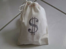 10 money Bags muslin draw string Sacks party favors casino night Monopoly Vegas
