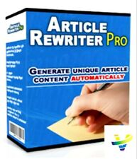 New Article Rewrite Pro W/ Master Resell Rights +10 Bonus Software W/ MRR PLR