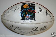NFL Wilson Quarterback Club Facsimile Autographed Football Hall Of Fame Elway