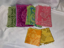 Vintage Colorful Towel Lot Fanshion Manor Dundee 4 Hand Towels 2 Wash Cloths