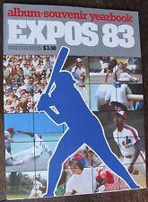 "1983 ""Montreal Expos Album Souvenir Yearbook"" Magazine in French & English"