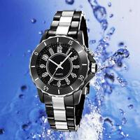 New OHSEN Black/white Steel LED light Men boy Quartz Sport Dial Wrist Watch Gift